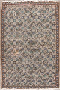 Muted Light Brown Mahal Persian Wool Rug 3x5