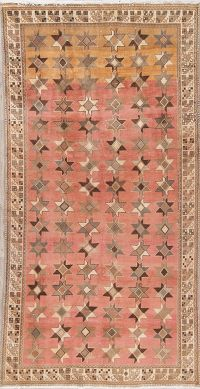 Pink Muted Distressed Bakhtiari Persian Wool Rug 5x9