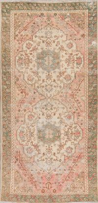 Antique Muted Distressed Bakhtiari Persian Area Rug 5x10