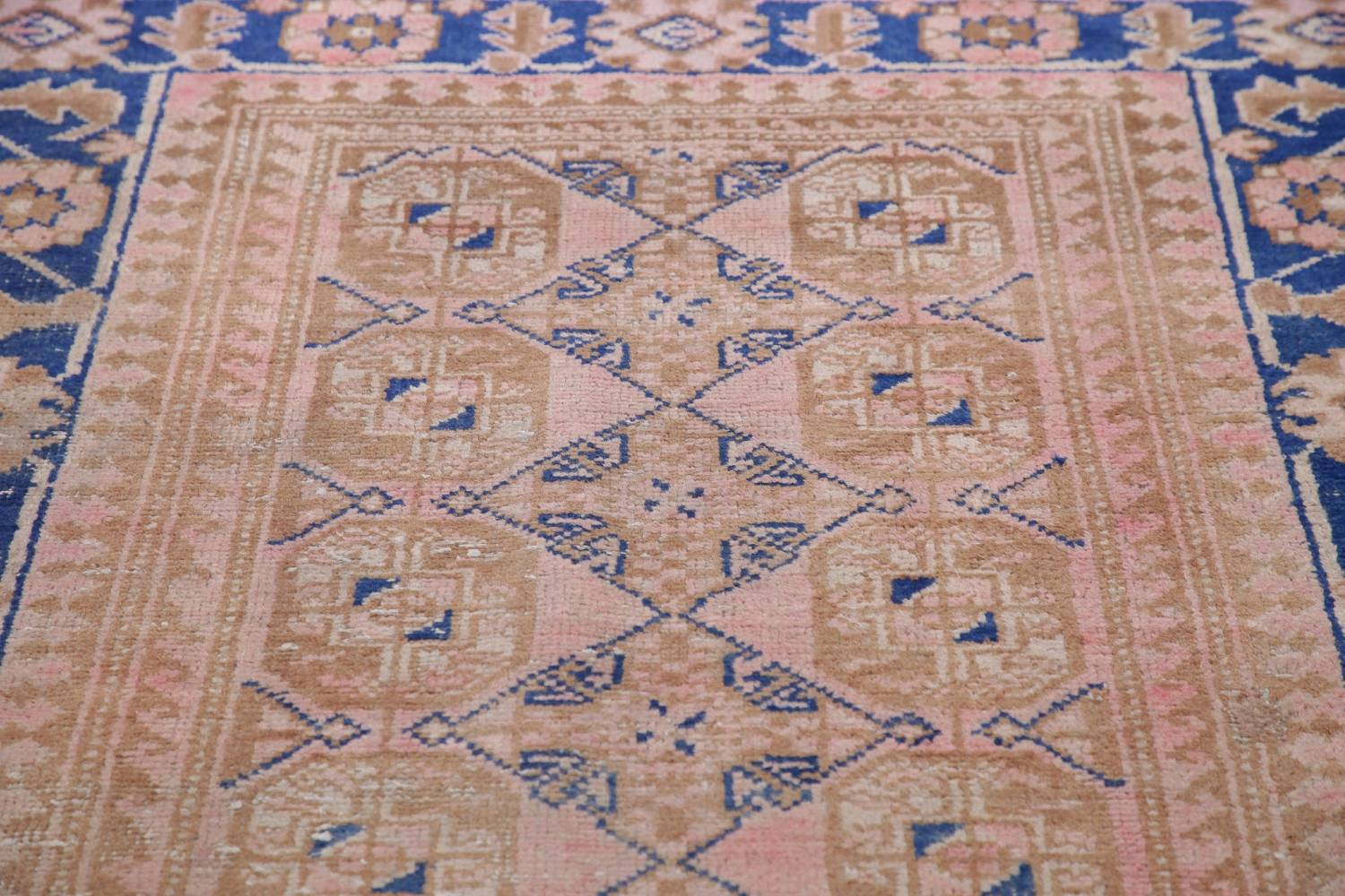 Antique Muted Distressed Malayer Persian Runner Rug 4x11 image 15
