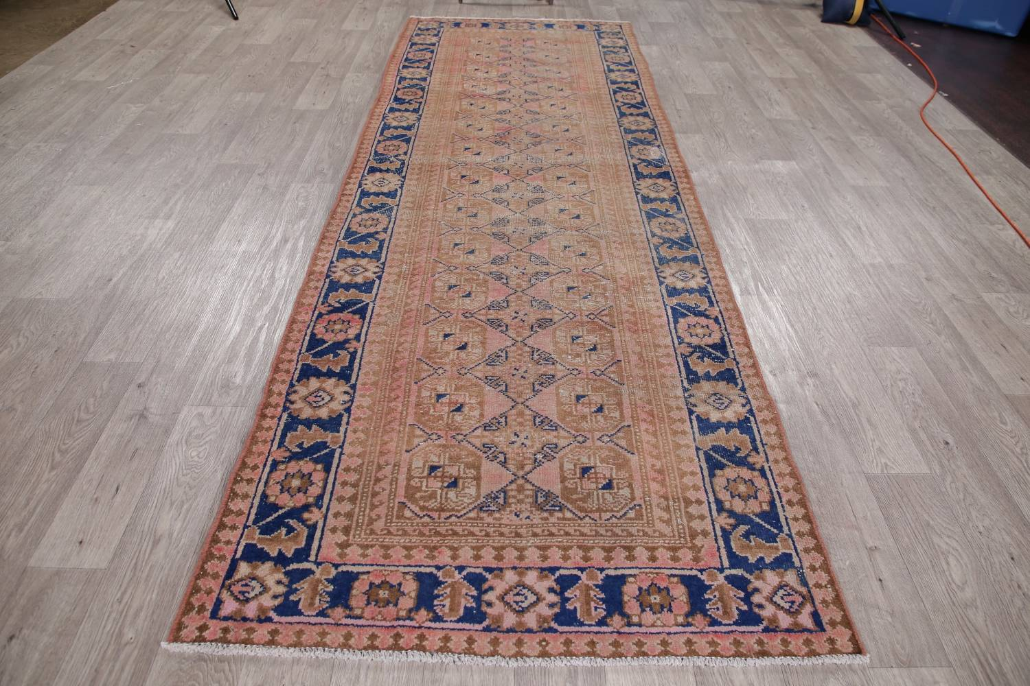 Antique Muted Distressed Malayer Persian Runner Rug 4x11 image 18