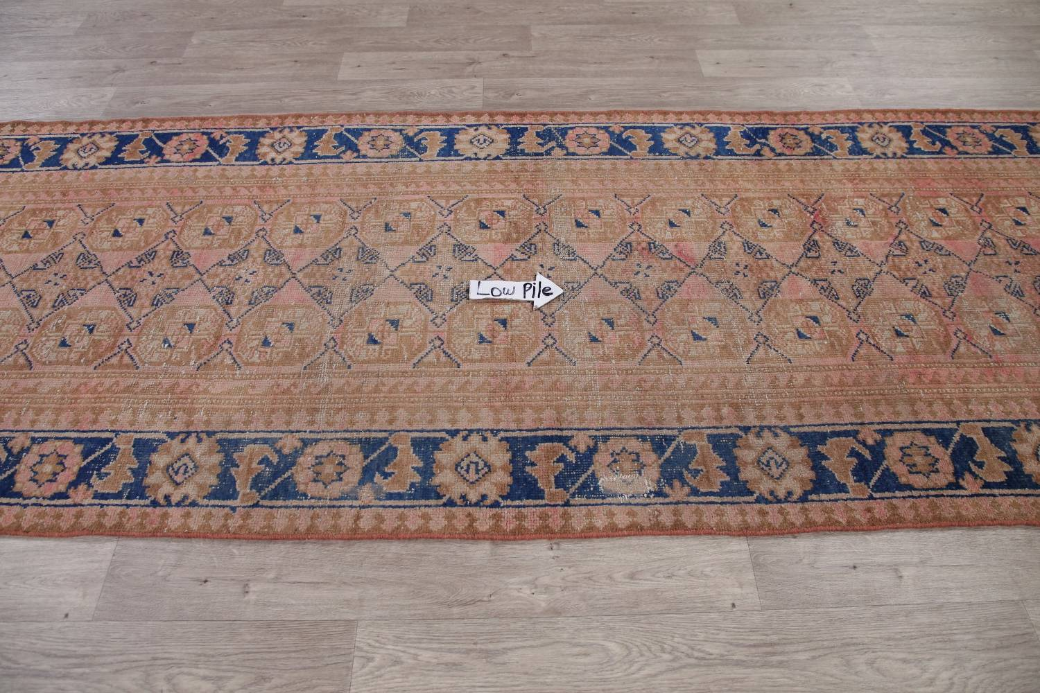 Antique Muted Distressed Malayer Persian Runner Rug 4x11 image 10