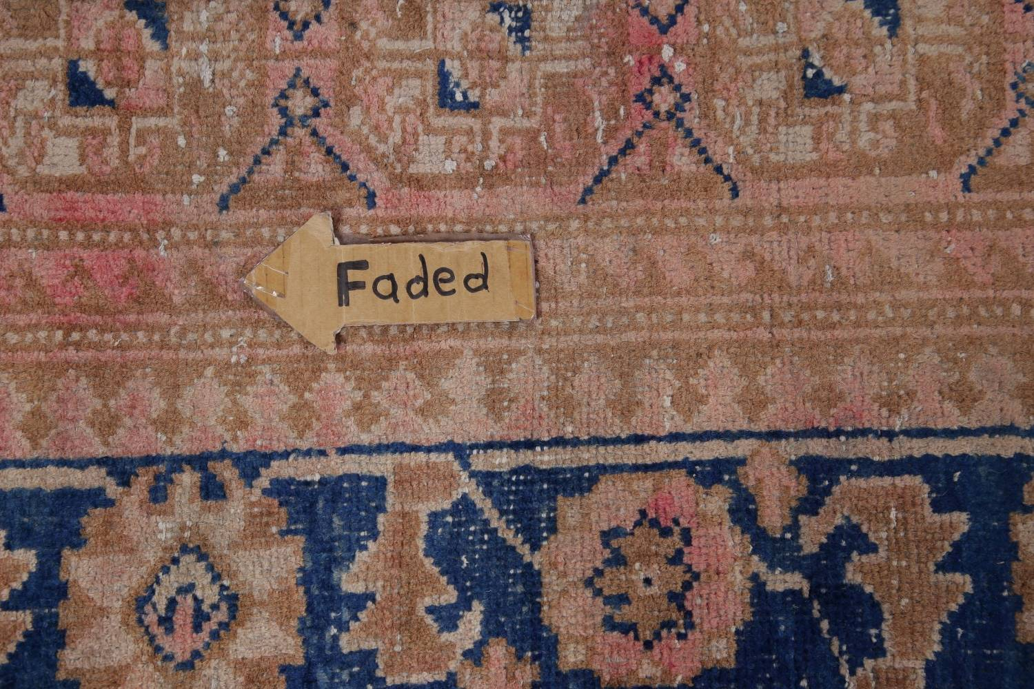 Antique Muted Distressed Malayer Persian Runner Rug 4x11 image 11