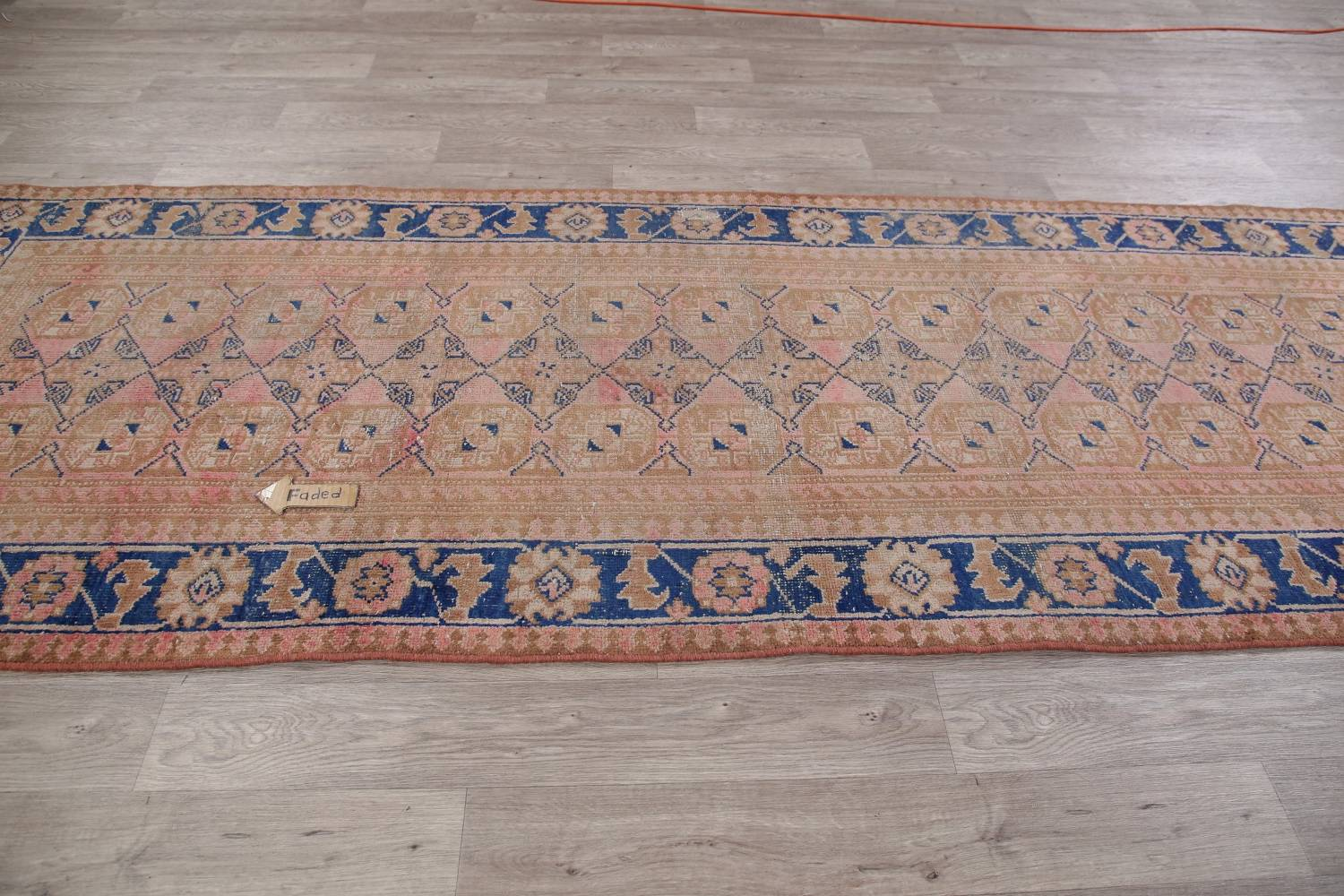 Antique Muted Distressed Malayer Persian Runner Rug 4x11 image 12