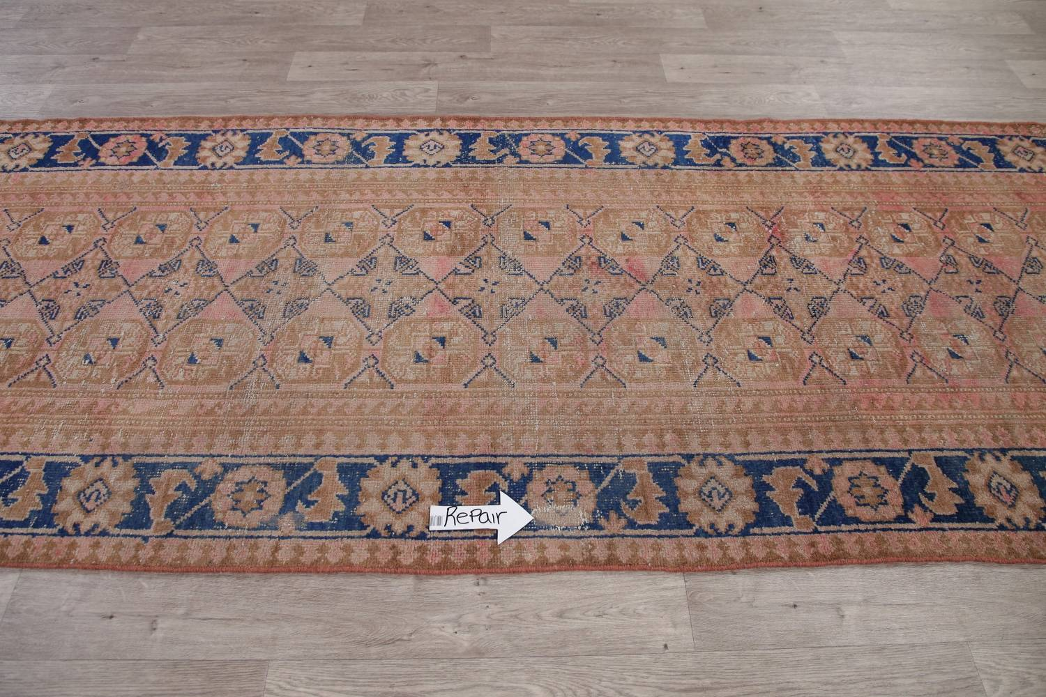 Antique Muted Distressed Malayer Persian Runner Rug 4x11 image 13