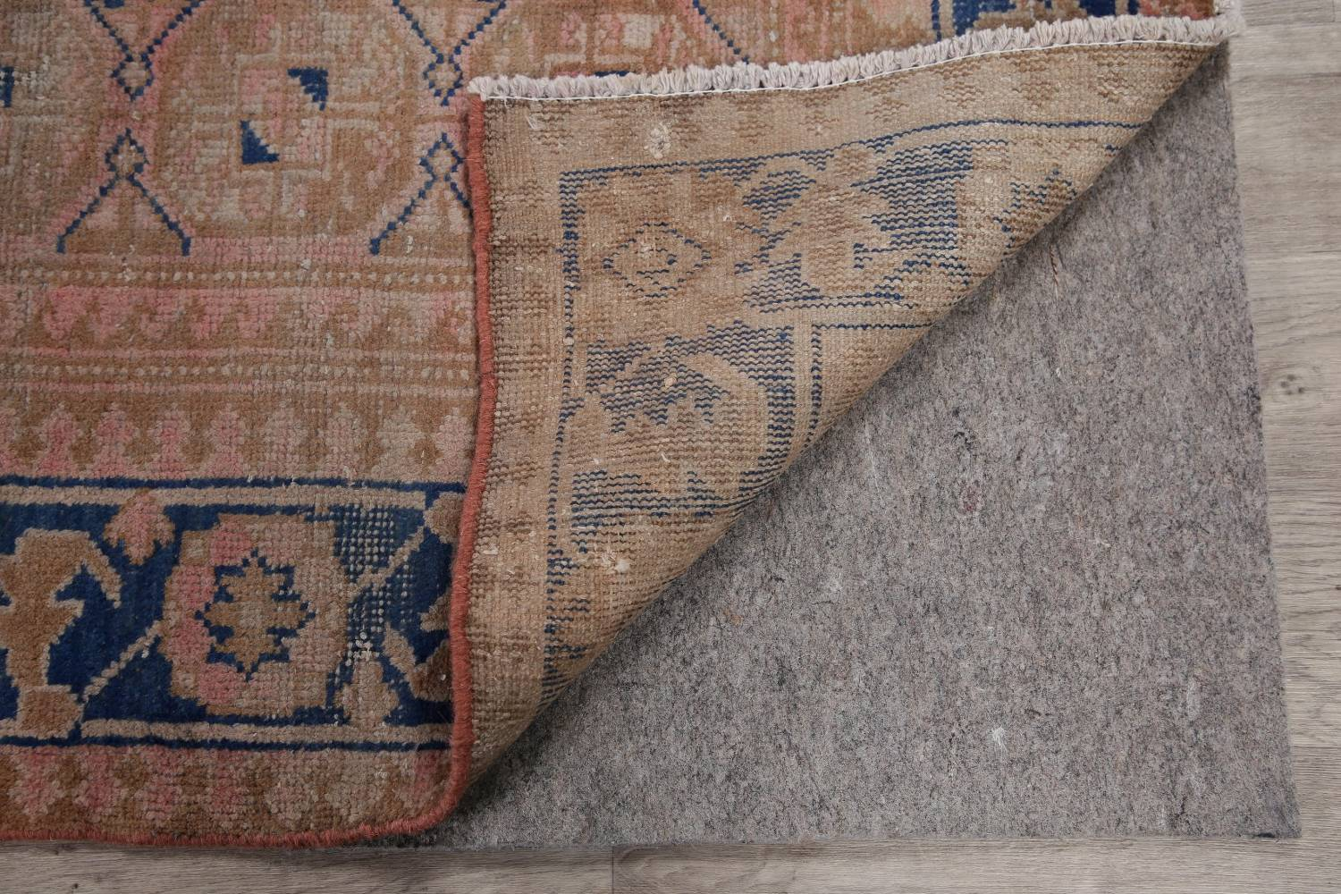 Antique Muted Distressed Malayer Persian Runner Rug 4x11 image 24