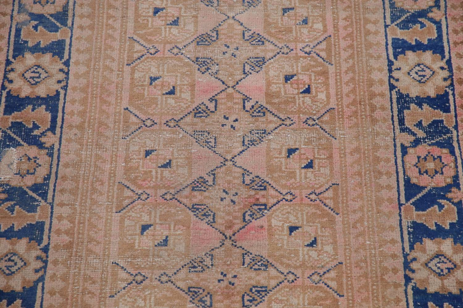 Antique Muted Distressed Malayer Persian Runner Rug 4x11 image 4