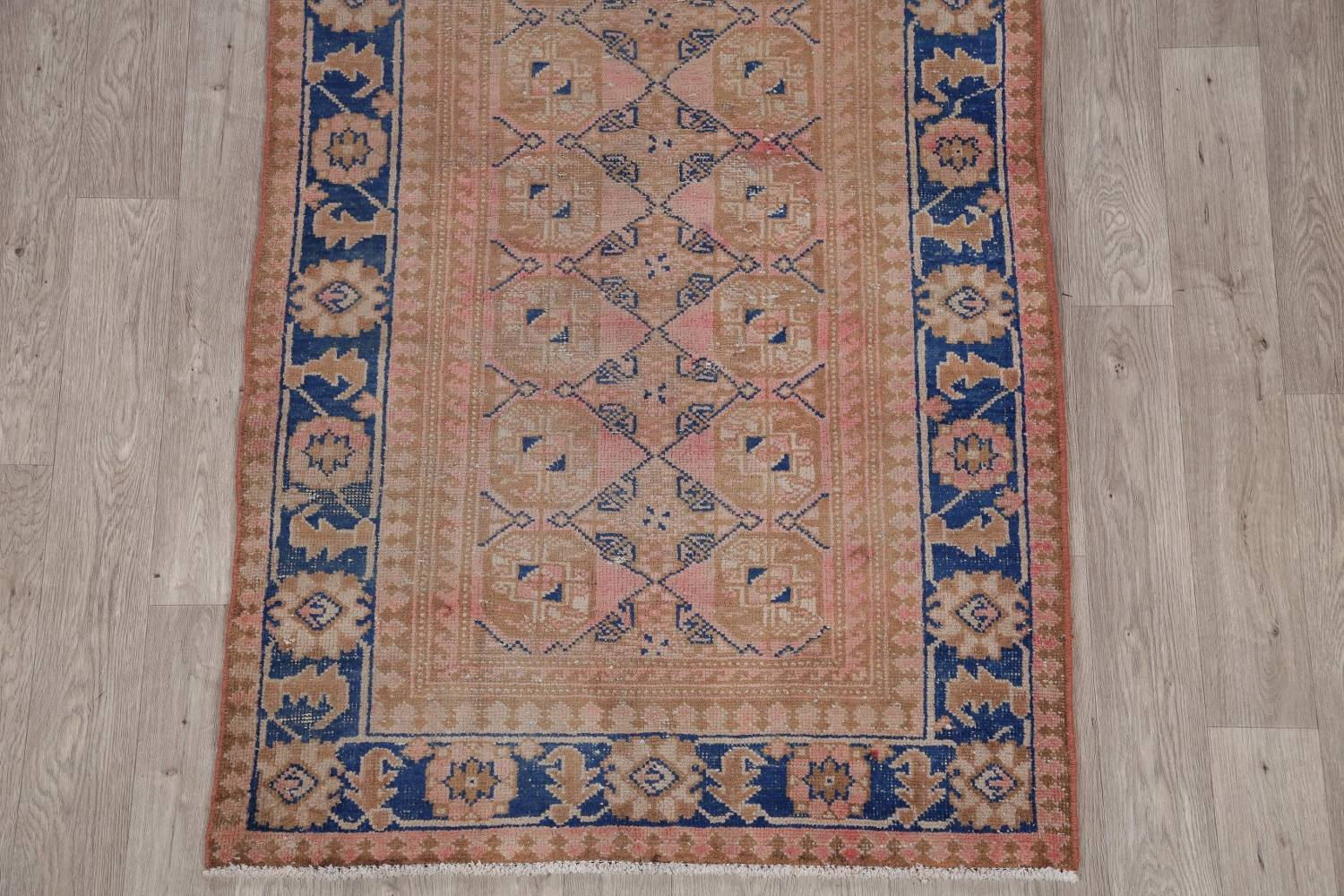 Antique Muted Distressed Malayer Persian Runner Rug 4x11 image 5