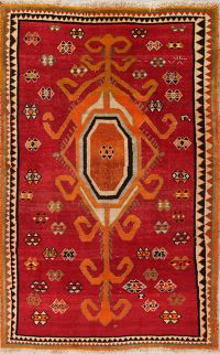 Geometric Red Shiraz Persian Area Rug 5x8