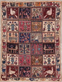 Patch-Work Animal Pictorial Bakhtiari Persian Wool Rug 3x4