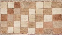 Checked Gabbeh Shiraz Persian Wool Rug 2x4