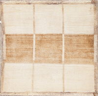 Geometric Gabbeh Shiraz Persian Square Rug 3x3