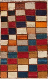 Multi-Color Gabbeh Shiraz Persian Wool Rug 3x4