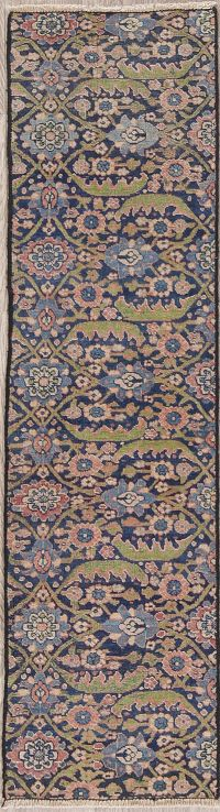 Pre-1900 All-Over Kerman Persian Runner Rug 1x5