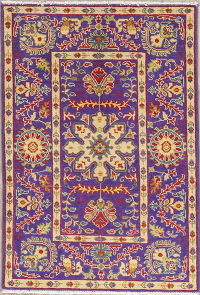 Purple Kazak-Chechen Oriental Rug 3x4