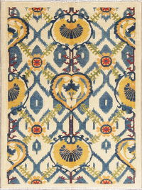 All-Over Kazak-Chechen Oriental Rug 4x5