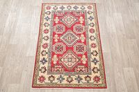 Red Kazak-Chechen Oriental Rug 3x5