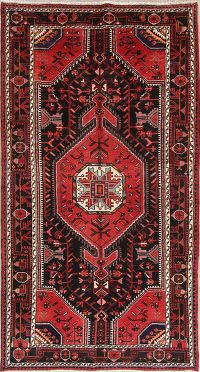 Black Geometric Nahavand Persian Rug 5x9