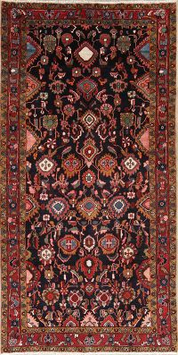 All-Over Nanaj Hamedan Persian Wool Rug 5x10