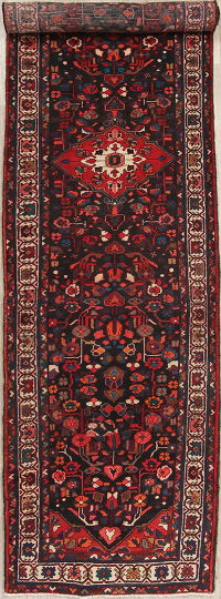 Geometric Malayer Persian Runner Rug 4x13