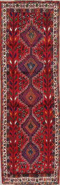 Red Lori Persian Runner Rug 3x10