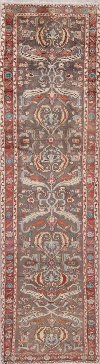 Floral Sultanabad Persian Runner Rug 2x9