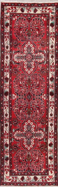 Red Lilian Persian Runner Rug 3x10