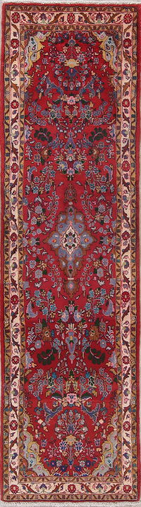 Red Floral Lilian Persian Runner Rug 3x10