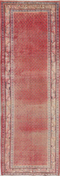 FADED Red Botemir Persian Runner Rug 3x10