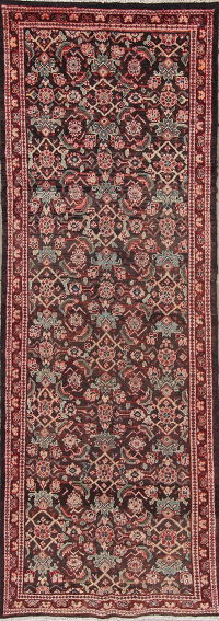 Antique  Sultanabad Persian Runner Rug 3x10