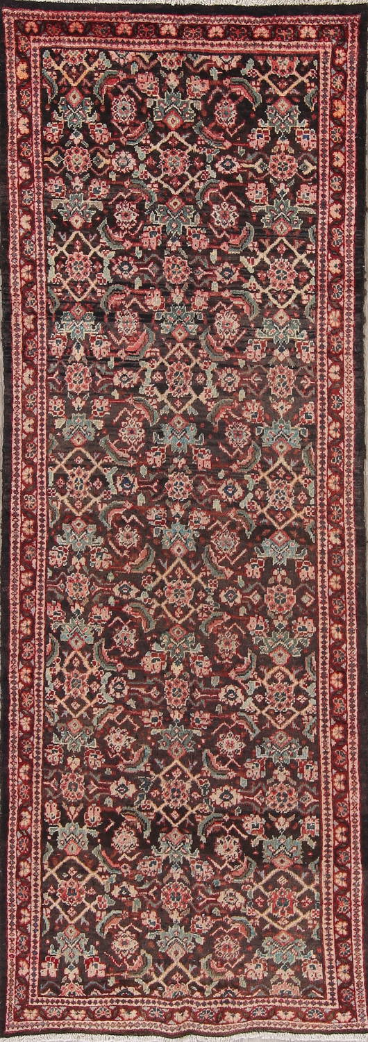 Antique  Sultanabad Persian Runner Rug 3x10 image 1