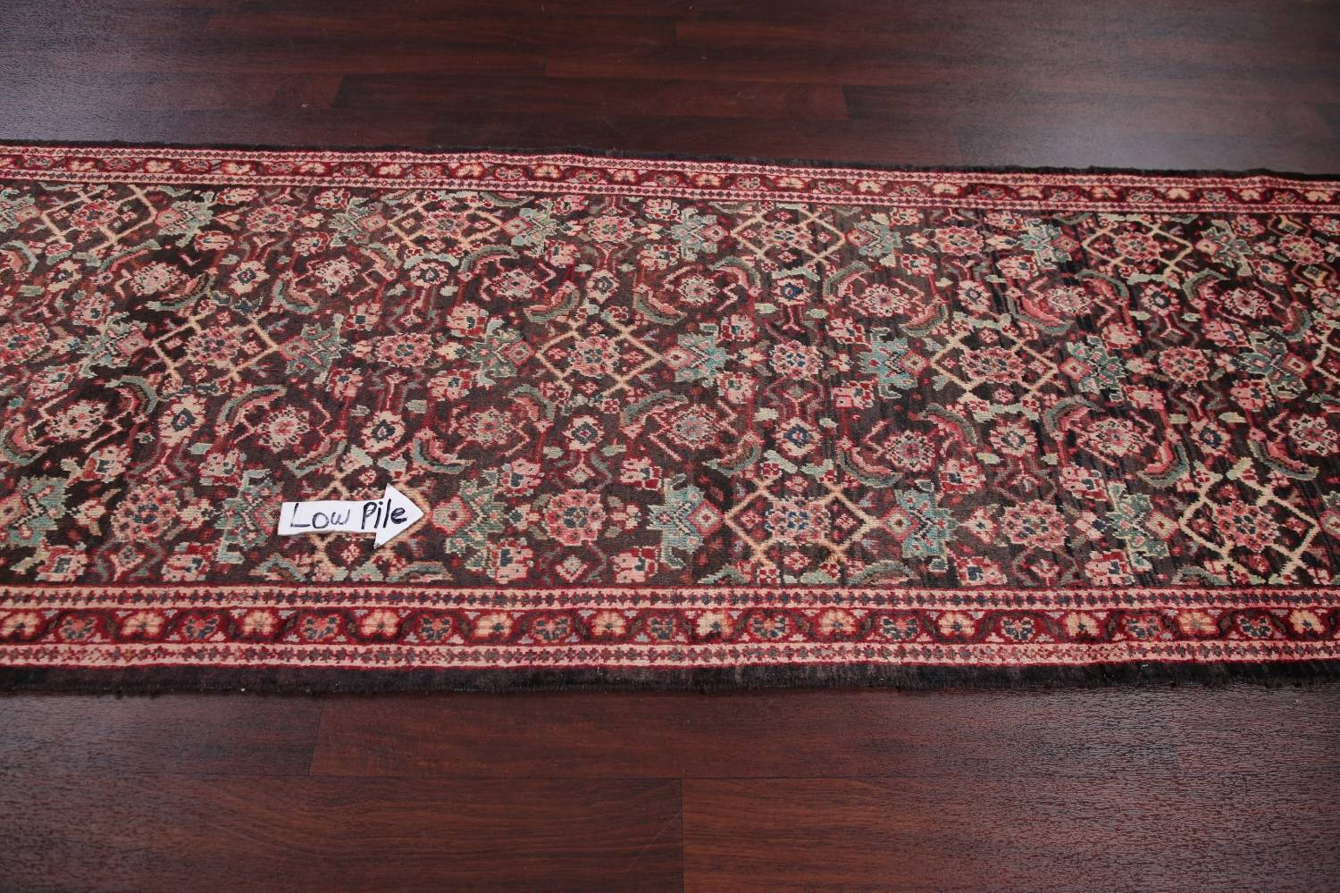 Antique  Sultanabad Persian Runner Rug 3x10 image 11