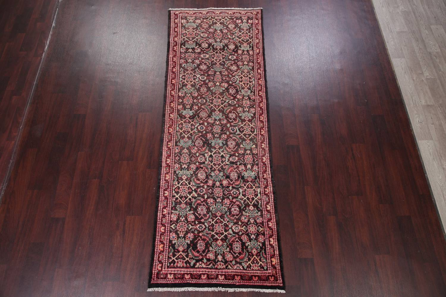 Antique  Sultanabad Persian Runner Rug 3x10 image 2