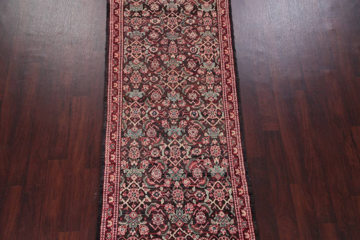Antique  Sultanabad Persian Runner Rug 3x10 image 3