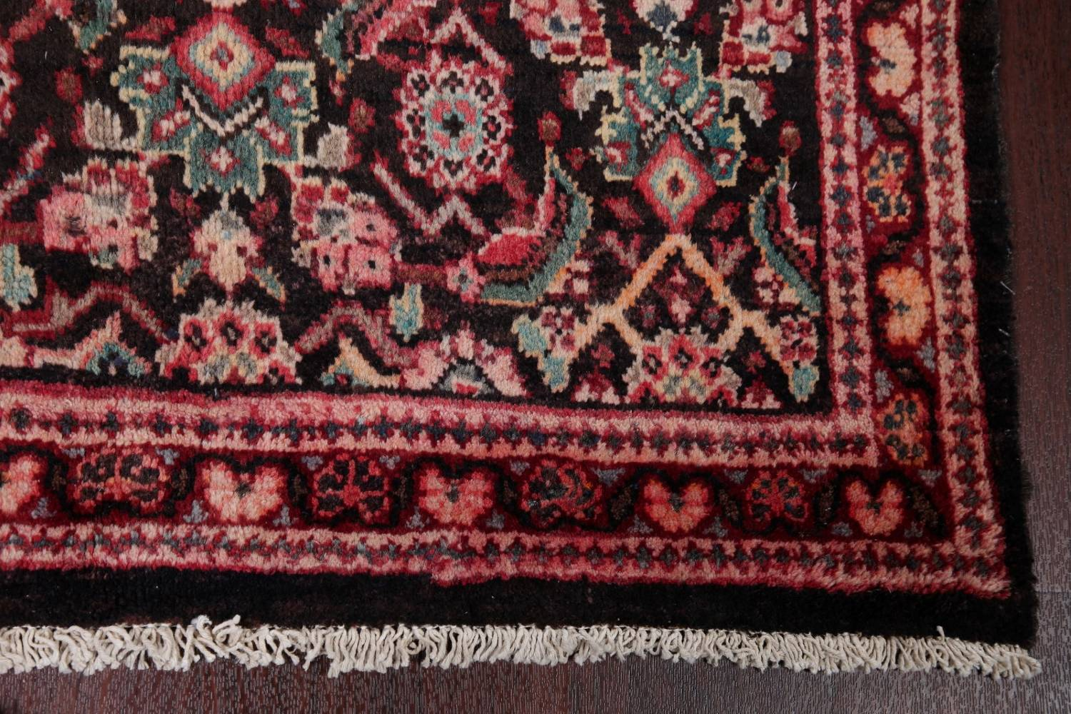 Antique  Sultanabad Persian Runner Rug 3x10 image 6