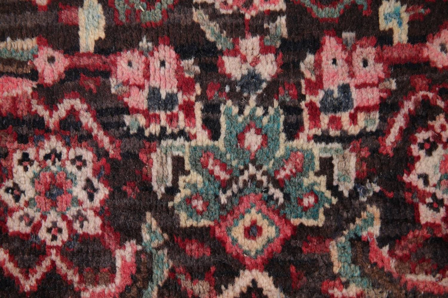 Antique  Sultanabad Persian Runner Rug 3x10 image 7