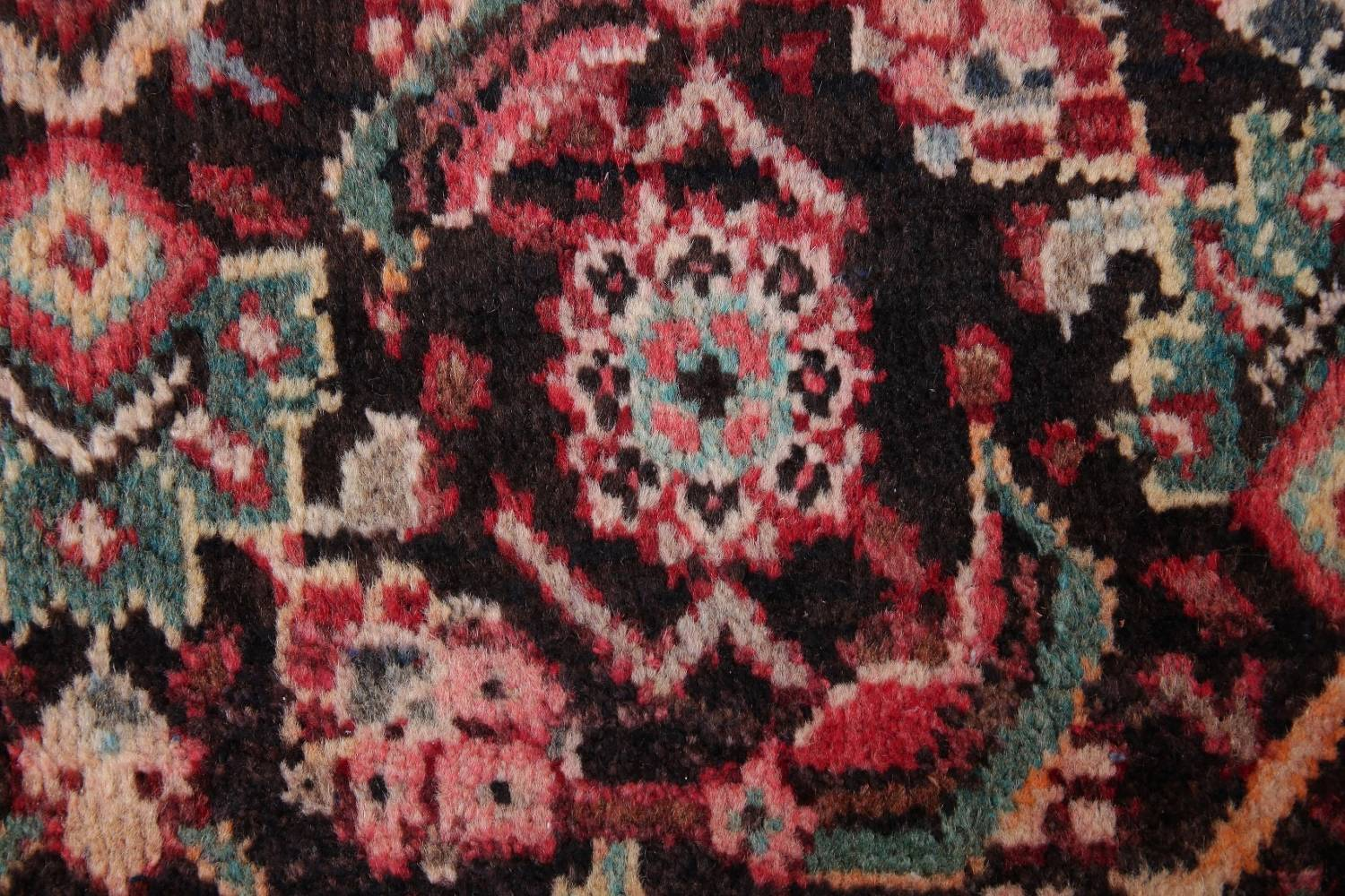Antique  Sultanabad Persian Runner Rug 3x10 image 8