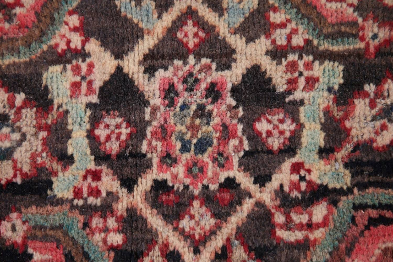 Antique  Sultanabad Persian Runner Rug 3x10 image 9