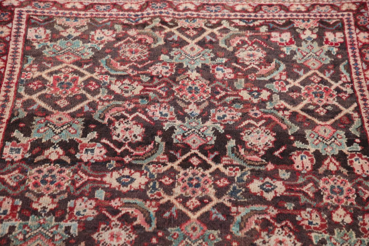 Antique  Sultanabad Persian Runner Rug 3x10 image 12