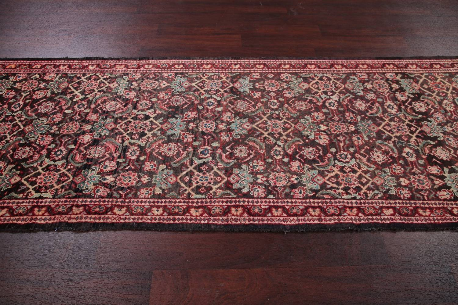 Antique  Sultanabad Persian Runner Rug 3x10 image 14