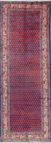 All-Over FADED Botemir Persian Runner Rug 4x11