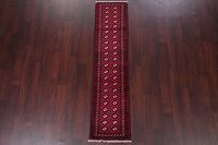 Red Balouch Persian Runner Rug 2x7