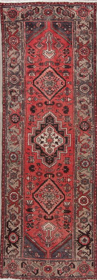 Tribal Hamedan Persian Runner Rug 3x10