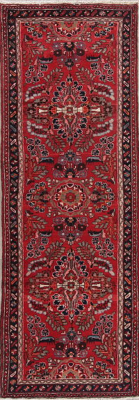 Floral Red Lilian Persian Runner Rug 4x10