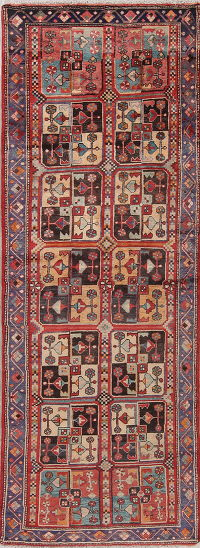 Geometric Malayer Persian Runner Rug 4x10