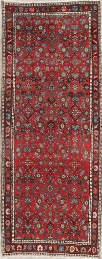 Geometric Red Malayer Persian Runner Rug 4x10