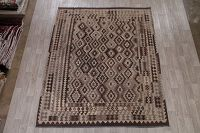 Flat-Weave Kilim Turkish Area Rug Wool 8x10