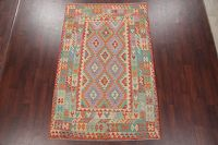Modern Flat-Weave Turkish Kilim Area Rug 5x8
