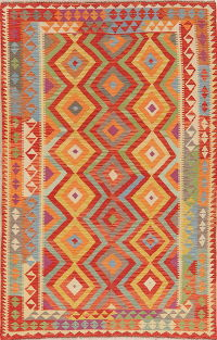 Flat-Weave Turkish Kilim Area Rugs 6x8