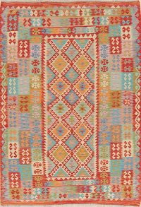 Modern Flat-Weave Turkish Kilim Area Rug 6x8